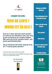 flyer lenteweek dorssports heiloo fitness